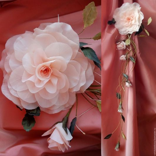 Цветы ручной работы. Ярмарка Мастеров - ручная работа. Купить Цветы для интерьера. Handmade. Цветы для интерьера, цветочная композиция
