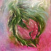 Картины и панно handmade. Livemaster - original item Pictures: Oil Painting Abstract Bright Peony. Handmade.