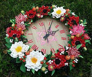 конкурс, подарок своими руками, подарок на новый год, часы ручной работы, часы, часы настенные, часы из полимерной глины