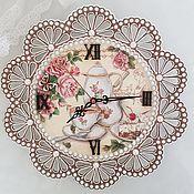 Часы ручной работы. Ярмарка Мастеров - ручная работа Часы настенные для кухни. Handmade.