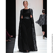 Одежда handmade. Livemaster - original item Black Maxi dress with belt. Handmade.