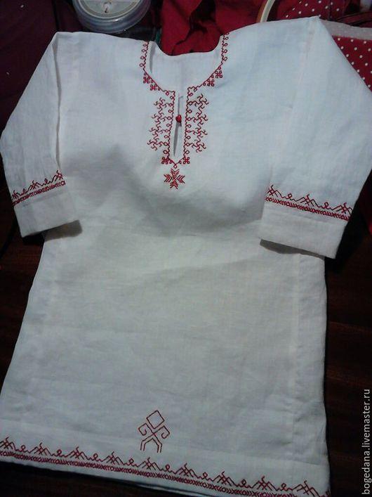 Одежда ручной работы. Ярмарка Мастеров - ручная работа. Купить рубаха для мальчика до года, с обереговым узором ручной вышивки. Handmade.