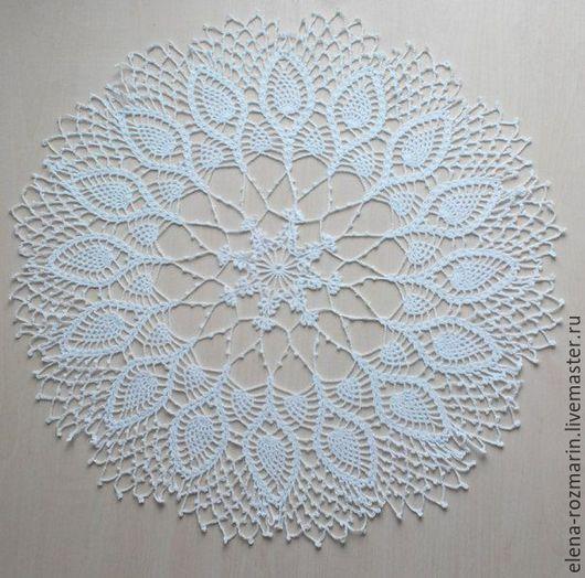 Текстиль, ковры ручной работы. Ярмарка Мастеров - ручная работа. Купить салфетка кружевная. Handmade. Кружево, салфетка ажурная