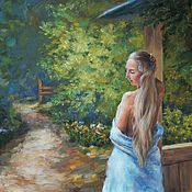 Картины и панно handmade. Livemaster - original item Summer morning. oil on canvas, 40h50 cm. Handmade.