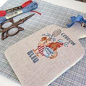 Канцелярские товары handmade. Livemaster - original item Notebook for recipes hand embroidery chicken. Handmade.