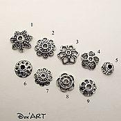 Материалы для творчества handmade. Livemaster - original item Bead caps in stock Art. ShB05. Handmade.