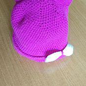 Шапка ручной работы. Ярмарка Мастеров - ручная работа Шапка для девочки с ушками. Handmade.