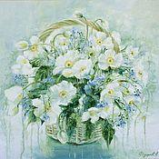 Картины и панно handmade. Livemaster - original item Oil painting with flowers. Handmade.