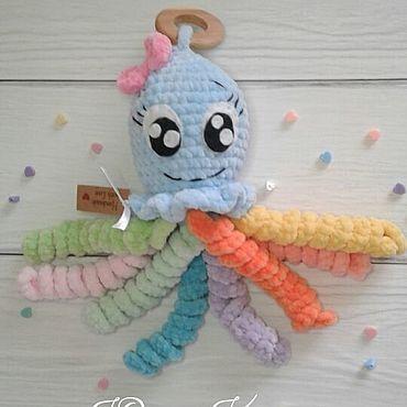 Куклы и игрушки ручной работы. Ярмарка Мастеров - ручная работа Игрушки: Осьминожка. Handmade.