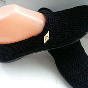 Обувь ручной работы. Ярмарка Мастеров - ручная работа Слипоны Классический  Чёрный. Handmade.