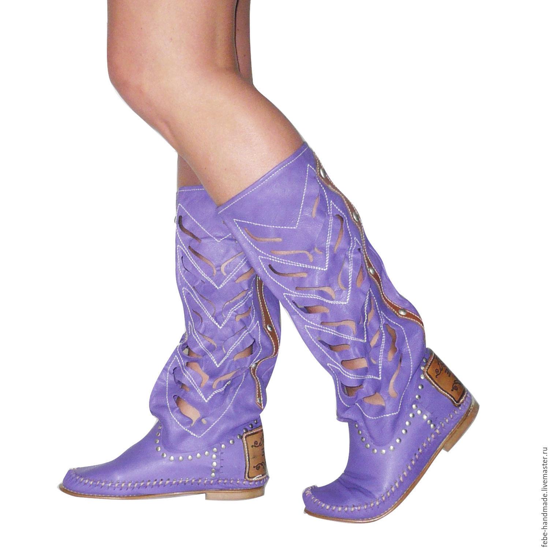 Купить фиолетовые сапоги Svetski 1861-2-22 7 в