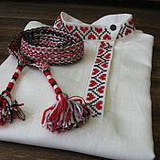 Русский стиль ручной работы. Ярмарка Мастеров - ручная работа Косоворотка с вышивкой  детская. Handmade.