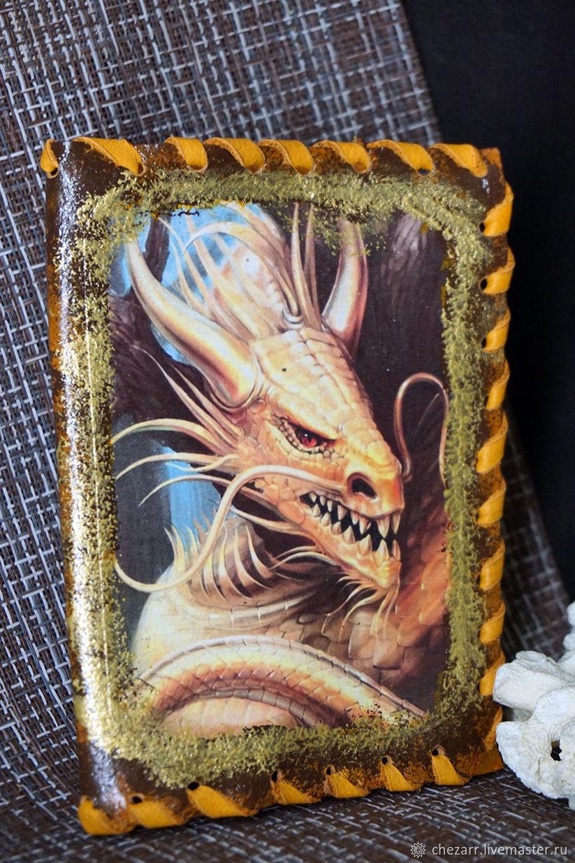 Passport cover leather-Golden dragon, Passport cover, Chelyabinsk,  Фото №1