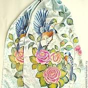 """Шарфы ручной работы. Ярмарка Мастеров - ручная работа Батик шарф """"Птицы"""". Handmade."""
