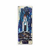 Картины и панно handmade. Livemaster - original item painting on wood Tokarevskogo lighthouse, decorative panels.. Handmade.
