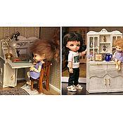 Куклы и игрушки ручной работы. Ярмарка Мастеров - ручная работа Стол-бюро и/или буфет ручная работа 1:12. Handmade.
