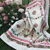 Для дома и интерьера handmade. Livemaster - original item Interior elements: Quilted bedspread - Flowers and birds.. Handmade.