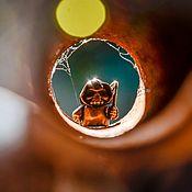 Аксессуары ручной работы. Ярмарка Мастеров - ручная работа Бусина для браслета темляка или рюкзака из латуни смертушка. Handmade.