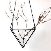 Цветы и флористика handmade. Livemaster - original item the floriana. floriana geometric pendant on a chain. prism. Handmade.