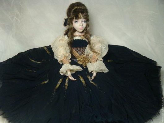 Коллекционные куклы ручной работы. Ярмарка Мастеров - ручная работа. Купить Сэдэка. Handmade. Тёмно-синий, интерьерная кукла