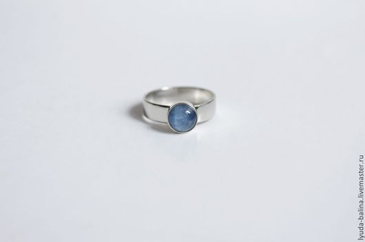 """Кольца ручной работы. Ярмарка Мастеров - ручная работа. Купить Кольцо """"Карьяла mini"""" с кианитом. Handmade. Синий, кольцо, подарок"""