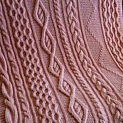 Blankets handmade. Livemaster - original item Plaid 100% Merino wool Pink flamingo.. Handmade.
