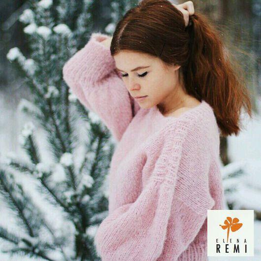 Кофты и свитера ручной работы. Ярмарка Мастеров - ручная работа. Купить Женский свитер розовый,  кофта, джемпер. Handmade. Свитер