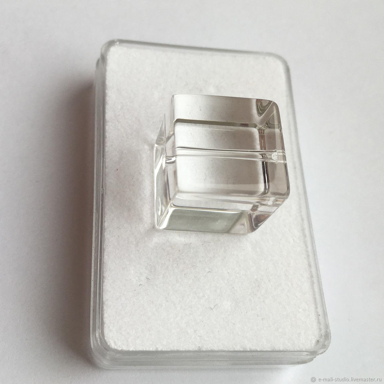 Rhinestone jewelry cube insert, Beads1, St. Petersburg,  Фото №1