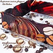 """Посуда ручной работы. Ярмарка Мастеров - ручная работа Конфетница """"Ароматный Кофе"""" стекло, фьюзинг. Handmade."""