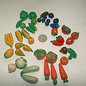 Куклы и игрушки ручной работы. Ярмарка Мастеров - ручная работа Овощи и фрукты из полимерной глины. Handmade.
