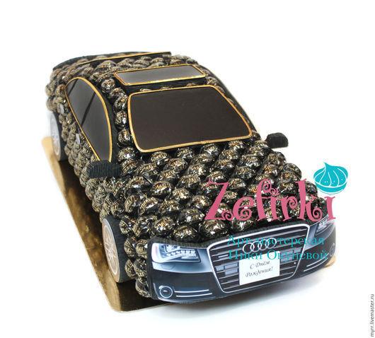 Подарки для мужчин, ручной работы. Ярмарка Мастеров - ручная работа. Купить Машина из конфет Audi A8 L машинка подарок мужчине мужу водителю. Handmade.