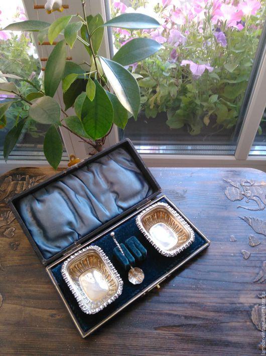 Винтажная посуда. Ярмарка Мастеров - ручная работа. Купить Антикварные серебряные  солонки (Бирмингем, 1900 г.). Handmade.