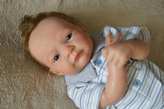 Куклы-младенцы и reborn ручной работы. Ярмарка Мастеров - ручная работа. Купить Рыжик.. Handmade. Голубой, винил