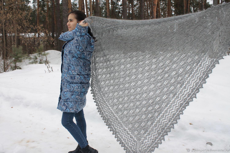 Openwork down shawl ' Karina', Shawls, Voronezh,  Фото №1