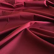 Материалы для творчества handmade. Livemaster - original item Italian fabric satin cotton with elastane suit cherry color. Handmade.