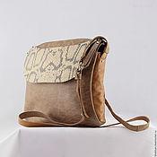 Сумки и аксессуары ручной работы. Ярмарка Мастеров - ручная работа Blake. Кожаная сумка с длинным ремешком. Handmade.