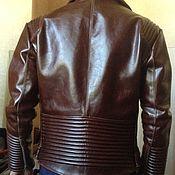 Одежда handmade. Livemaster - original item Men`s brown leather jacket. Handmade.