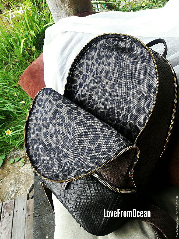 Кожаные женские сумки из натуральной кожи из питона