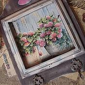 """Для дома и интерьера ручной работы. Ярмарка Мастеров - ручная работа """"В моем саду""""- ключница-вешалка. Handmade."""
