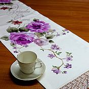 Для дома и интерьера ручной работы. Ярмарка Мастеров - ручная работа Дорожка наперон Японский сюжет. Handmade.
