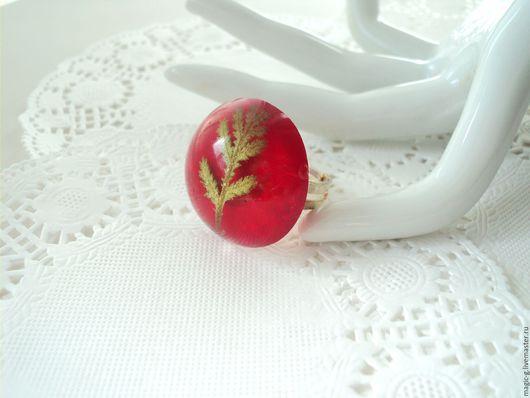"""Кольца ручной работы. Ярмарка Мастеров - ручная работа. Купить Кольцо из эпоксидной смолы """"Радуга цветов"""". Handmade. Ярко-красный"""