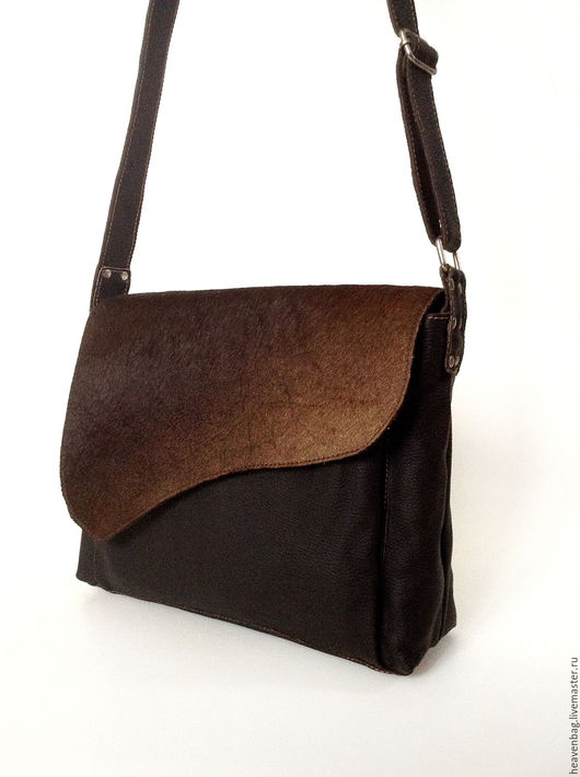 Мужские сумки ручной работы. Ярмарка Мастеров - ручная работа. Купить Animal. Handmade. Коричневый, сумка мужская, кожа натуральная