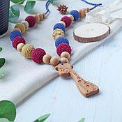Одежда handmade. Livemaster - original item Slingobusy Burgundy with blue