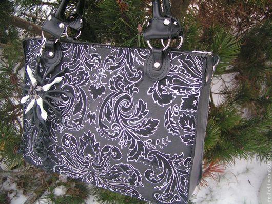 Женские сумки ручной работы. Ярмарка Мастеров - ручная работа. Купить Зима. Handmade. Черный