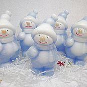 Косметика ручной работы. Ярмарка Мастеров - ручная работа Новогоднее мыло снеговик. мыло снеговик большой. Handmade.