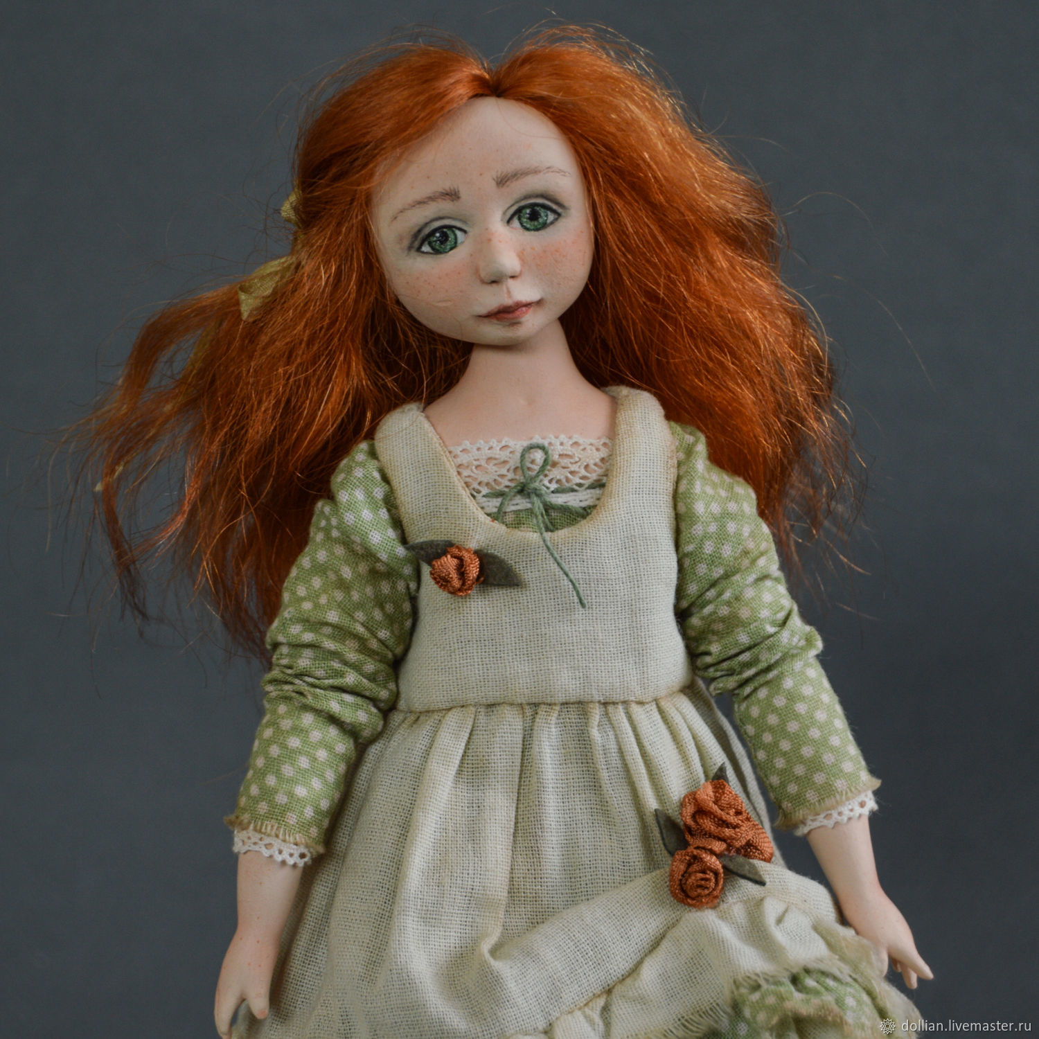 Author's interior collectible doll handmade, Dolls, St. Petersburg,  Фото №1