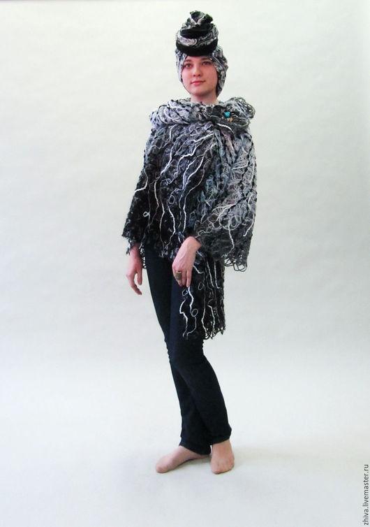 Пиджаки, жакеты ручной работы. Ярмарка Мастеров - ручная работа. Купить Жакет из шерсти ИГРА. Handmade. Чёрно-белый