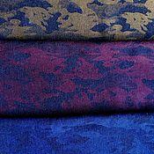 Материалы для творчества handmade. Livemaster - original item Denim jacquard camo Blue, Burgundy, Gold. Handmade.