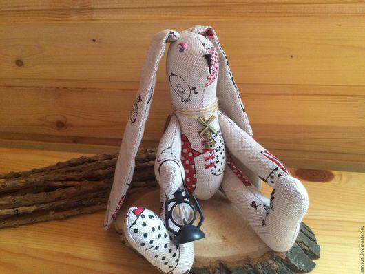 Игрушки животные, ручной работы. Ярмарка Мастеров - ручная работа. Купить Текстильный заяц Лето в деревне. Handmade. Комбинированный