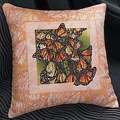 Для дома и интерьера handmade. Livemaster - original item Cross stitch Decorative Pillow Wings of butterflies. Handmade.